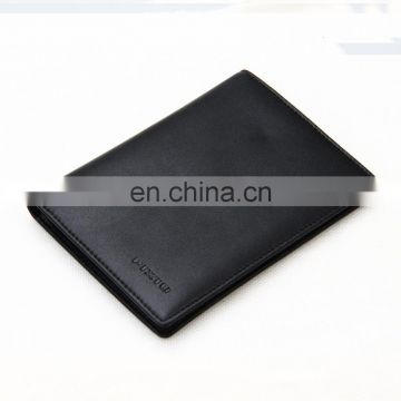 Factory Low Price High Quality Custom Leather microfiber Passport Wallet