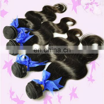 Nature color 7a grade body wave hair weft 100% real human hair remy raw brazilian hair