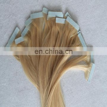 Top quality european tape in hair extensions