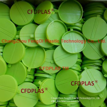 Green Plastic Capseals closures for polydrums
