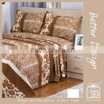 4pcs Twin or Full or Queen or King 100% Polyester Printed Microfibre Bed Sheet Bedding Set                                                                         Quality Choice