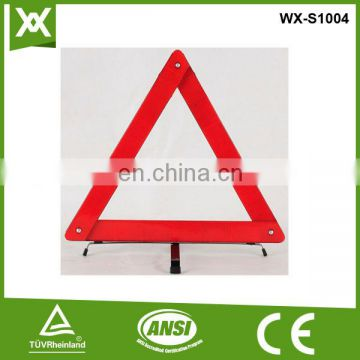 E Mark safety reflective warning triangle for road