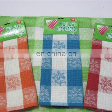 Promotion Waffle Design Weaving Cotton Dish Towels