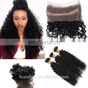 Peruvian Hair different types of curly weave hair 360 lace Frontal free part lace closure