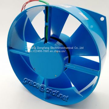 CNDF  Made in China 210mm Single Flange 200FZY-D AC Axial Cooling Fan industry exhaust cooling fan 200x210x71mm