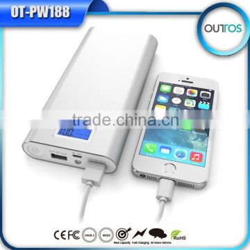 most powerfully wholesale cellphone power bank 20000mah with LED indicator