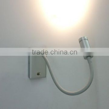 wholesale made in Zhongshan bend LED wall lamp with 3W light beads good for bedroom reading