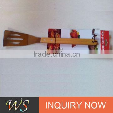 food grade certificated customizing wood bbq spatula with customizing packing for outdoor