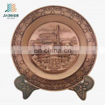 USA logos custom design antique copper metal Plate