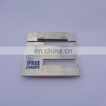 Offset Printing Free Shops Logo Metal Name Plate With Magnet