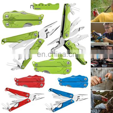 2017 NEW high quality promotion gift foldable stainless steel and anodized aluminum multi tool