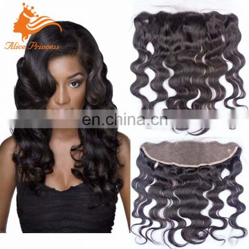 7A Brazilian Lace Frontal Closure 13x4 Body Wave Ear To Ear Lace Frontal With Baby Hair Virgin Human Hair Full Lace Frontal