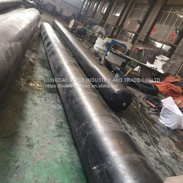 Culvert Construction Inflated Rubber Balloons, pneumatic rubber balloon