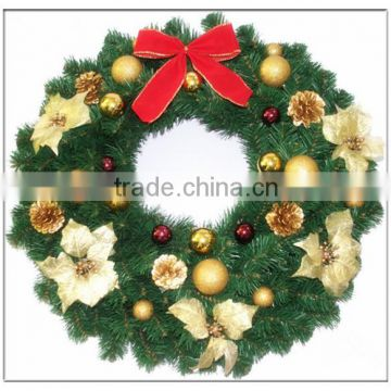 christmas garlandchristmas wreathchristmas floral hoopblank green plastic artificial wholesale christmas - Christmas Garland Wholesale