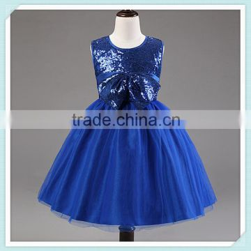 1b7a82c5b Royal Blue Sequins Tulle Flower Girl Dress Pageant Bridal Party ...