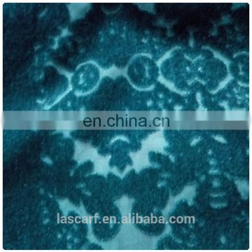 Green burnt-out velvet scarves shawls factory customized