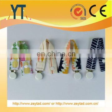Custom High Quality Lovely Color Polka Dot Ribbon Chain Baby ,baby pacifier clip factory for sale custom Child pacifier