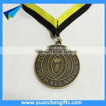 Customized brass swimming medal race medal