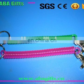 steel wire carabiner safety spring with locking for promotion
