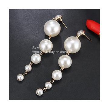 04cc1dd6164c7 Styleibuy TRENDY ELEGANT & BIG SIMULATED PEARL & LONG EARRINGS ...