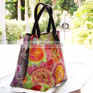Indian kantha luxury designer 100% cotton women bags
