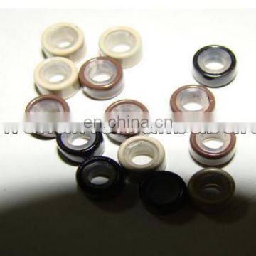 Black, brown, beige color Top quality human hair extension bead links silicone micro ring