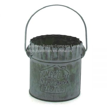 Supply kinds of metal flower pot bucket for home&garden decoration