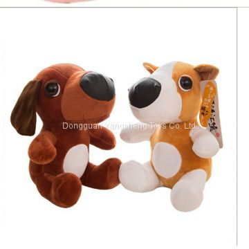 Black and white spotted dog plush toy husky local dog custom doll custom-made processing to produce a sample