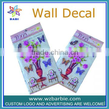 butterfly and flower pvc room decor 3d wall stickers