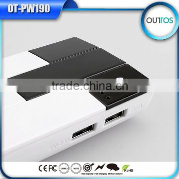 New paino style portable power source 10000mah for cellphones
