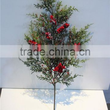 Home garden decorative 60cm Height artificial white hanging pine tree leaf branches ERSY11 2102