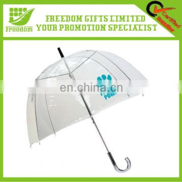 Promotional Logo Imprint Clear Umbrella