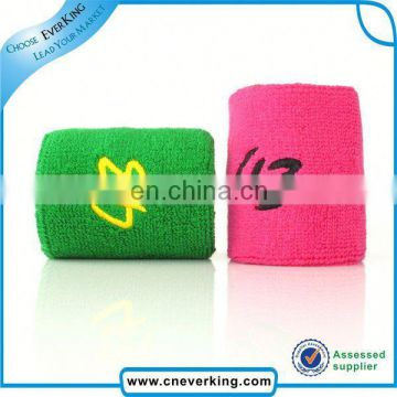 custom newest cotton sports sweatband wrist protection with watch factory wholesale