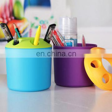 Cheap promotional plastic toothbrush holder also can be used as a pen holder