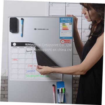 Custom Dry Erase daily weekly magnetic calendar planner for fridge