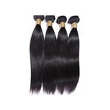 Double Drawn 12 Inch Indian Cambodian Virgin Hair Silky Straight Natural Hair Line