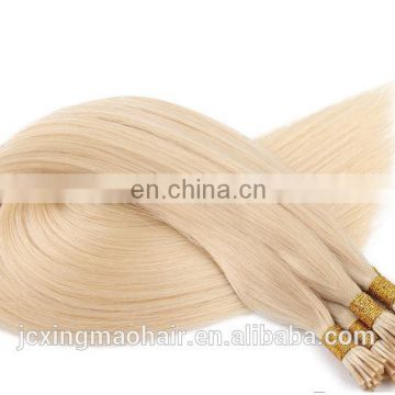 Thick end double drawn human hair extension,high quality pre-bonded I tip/U tip/flat tip hairs