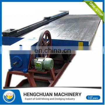 China supplier 6-S High recovery rate scrap copper recycling shaking table/ mining shaker table for sale