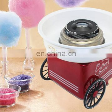 Good appearance Easy to move mini cotton candy machine  with two wheels