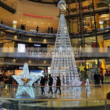 garden light 2m to 16m or 6.5ft to 53ft Height artificial large 3d LED Christmas Tree E06 3014