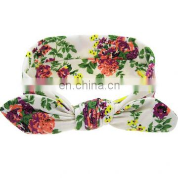 Newborn Flower Headband Baby Fabric Headwrap Baby Turban Infant Bows For Birthday Hair Accessory