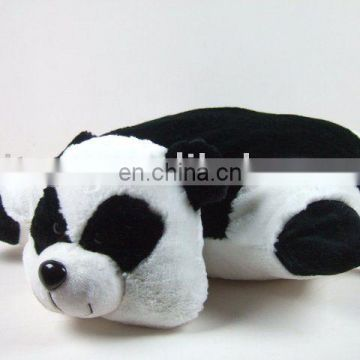 plush and stuffed panda cushion cover