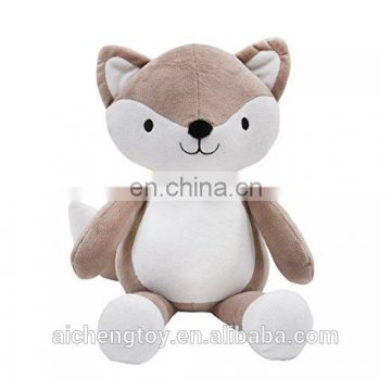 big belly plush stuffed animal toys cute grey fox toy