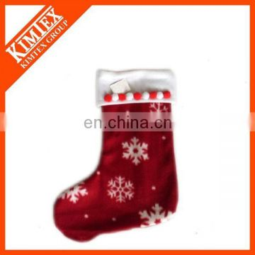 2015 New style plush red christmas stocking
