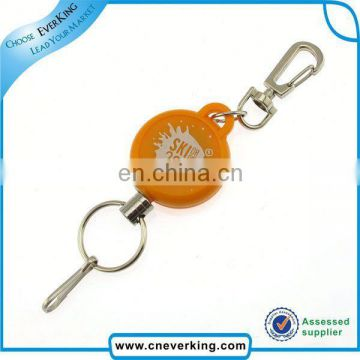 Custom shaped retractable reel keychain for promotion