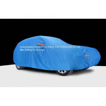Navy Blue Color 190T Polyester Taffeta SUV Waterproof Car Covers