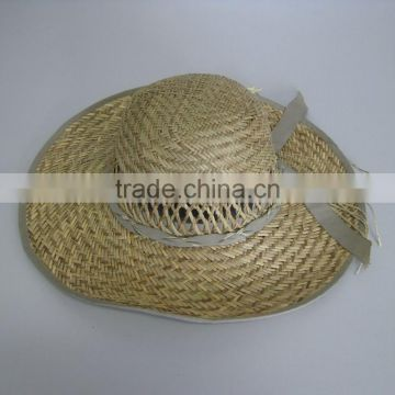 Hollow straw hat