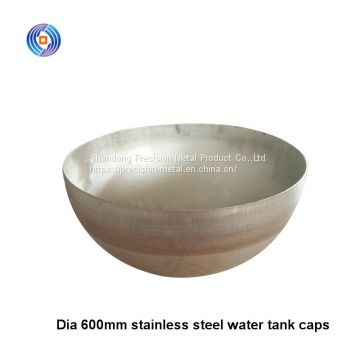 fresh Dia 600mm Thk 0.36mm 304 stainless steel water tank lids for horizontal tank