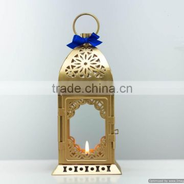 gold plated fancy moroccan lantern