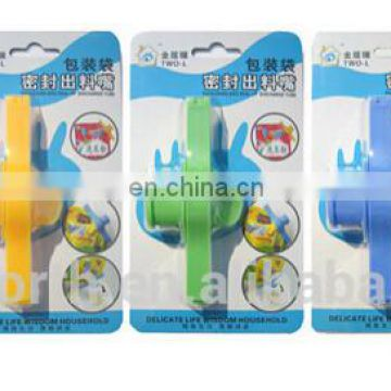 powder bag clip with various designs and colours